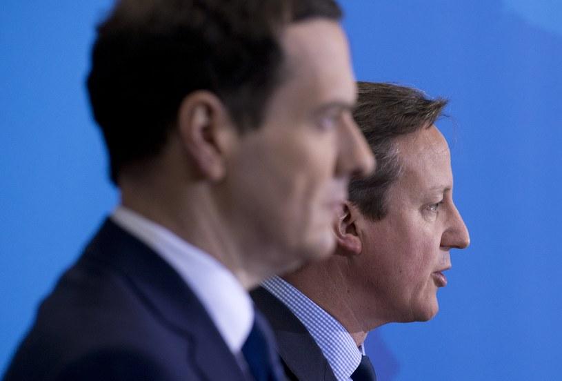 George Osborne i David Cameron /AFP