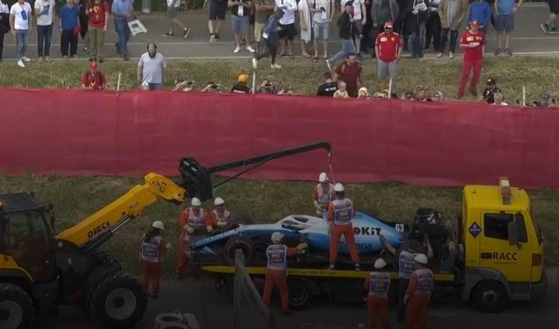 George Russell wypadł z trasy podczas trzeciej sesji treningowej przed GP w Barcelonie /AFP
