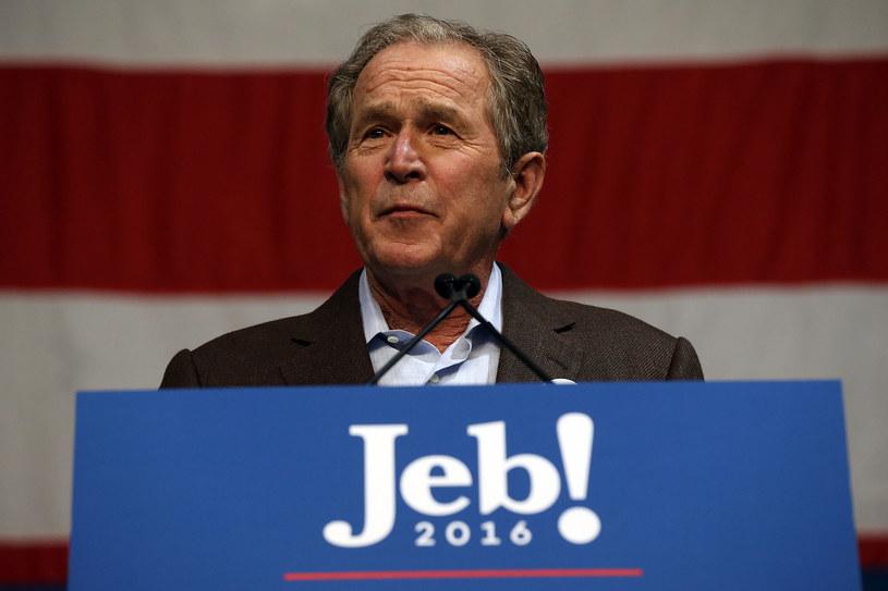George W. Bush na wiecu brata /AFP