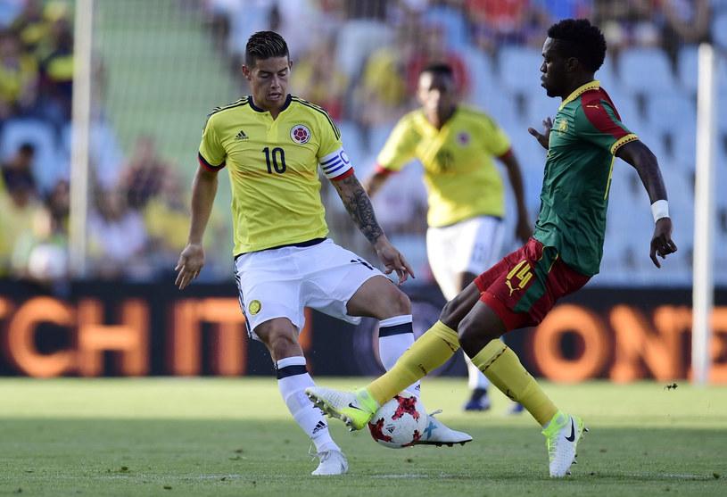 Georges Mandjeck w meczu towarzyskim z Kolumbią /AFP