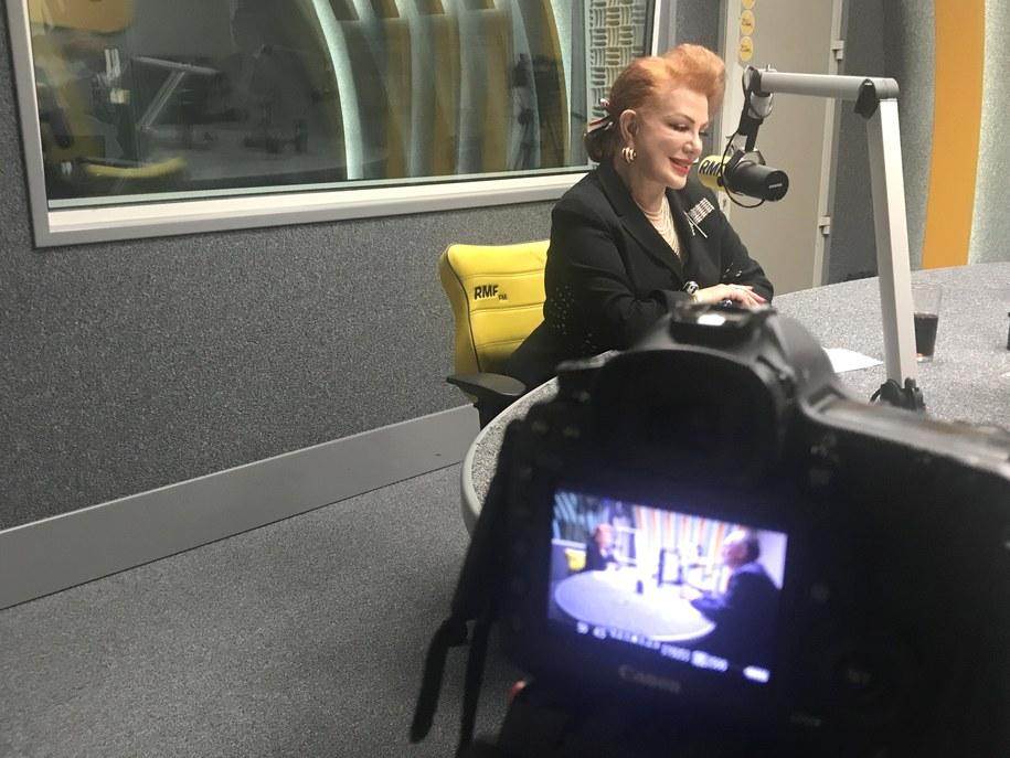 Georgette Mosbacher w studiu RMF FM /Monika Kamińska /RMF FM