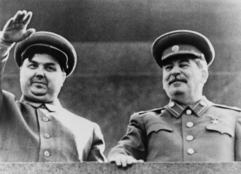 Georgij Malenkow (z lewej) i Józef Stalin na początku lat 50-tych /East News
