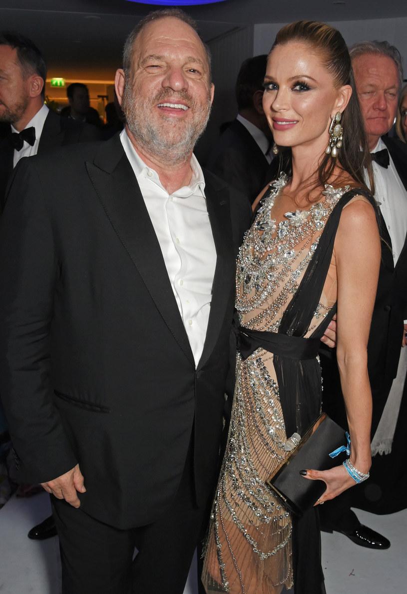 Georgina Chapman i Harvey Weinstein /Dave Benett/amfAR2017 / Contributor /Getty Images