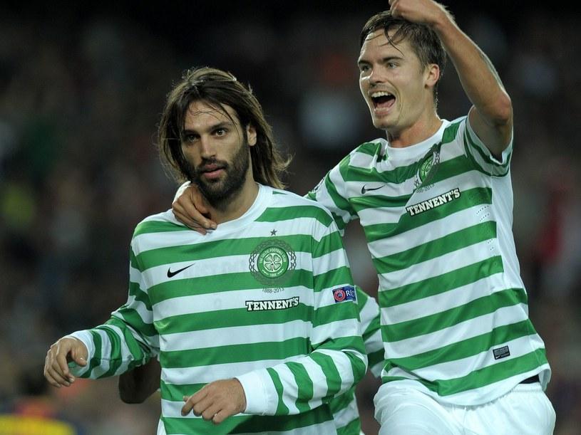 Georgios Samaras (z lewej) strzelił gola w meczu Cliftonville FC /AFP