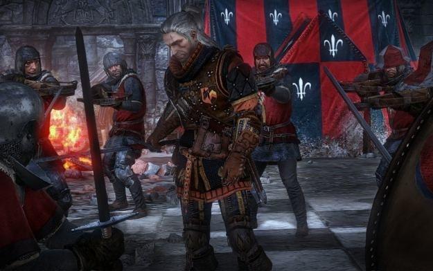Geralt w doborowej obstawie. Zaraz będzie pasował któregoś z kmiotków na rycerza... /Informacja prasowa