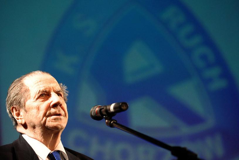 Gerard Cieślik podczas obchodów 90-lecia Ruchu Chorzów w 2010 roku /Norbert Barczyk /Newspix