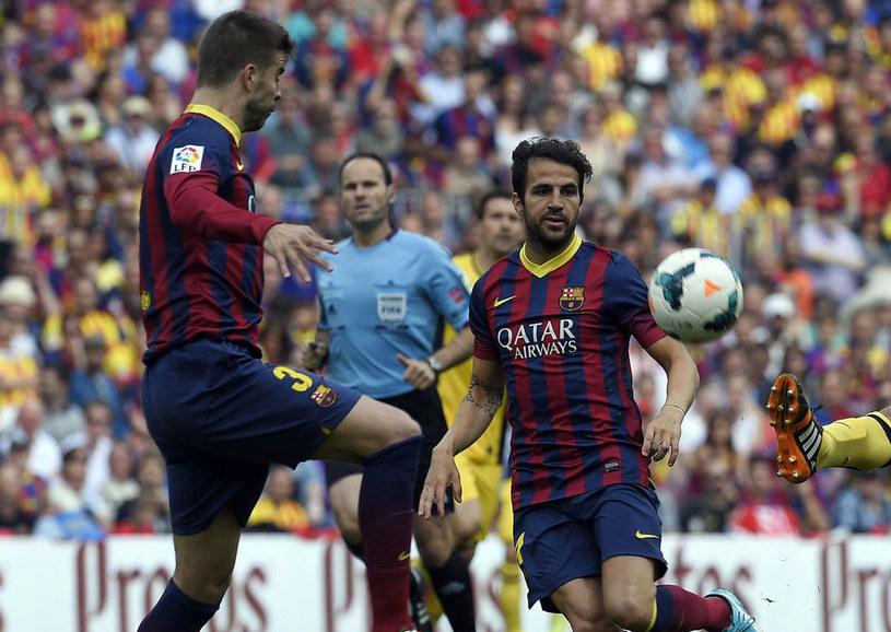 Gerard Pique i Cesc Fabregas /AFP