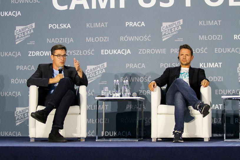 Gergely Karacsony i Rafał Trzaskowski w trakcie Campusu Polska Przyszłości /Artur Szczepański /East News