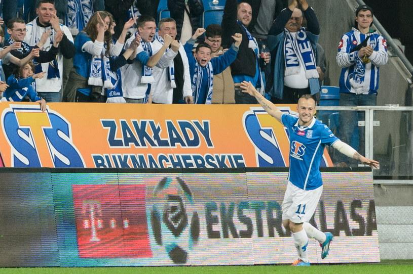 Gergo Lovrencsics strzelił dwa gole w meczu z Górnikiem Zabrze /Fot. Jakub Kaczmarczyk /PAP