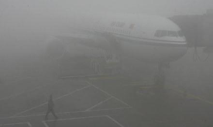 Gęsta mgła uniemożliwia odlot samolotu z Francji /AFP