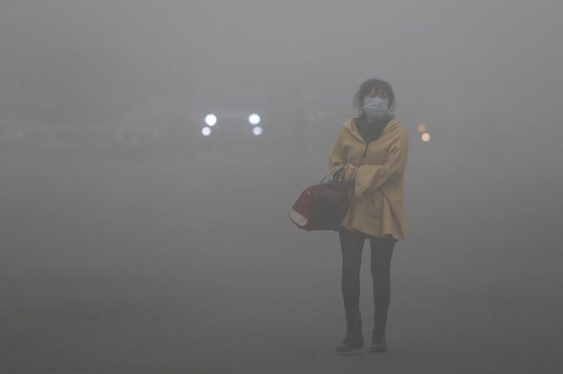 Gęsty smog nad Harbinem /AFP