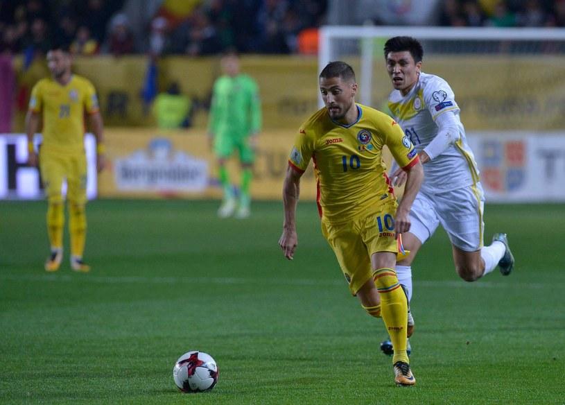 Gheorghe Grozav podczas meczu z Turcją /AFP