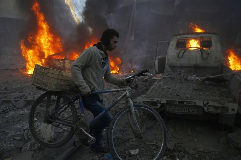 Ghouta powinna być jedną tzw. stref deeskalacyjnych, zgodnie z porozumieniem przyjętym w maju przez Rosję, Turcję i Iran /SAMEER AL-DOUMY /AFP