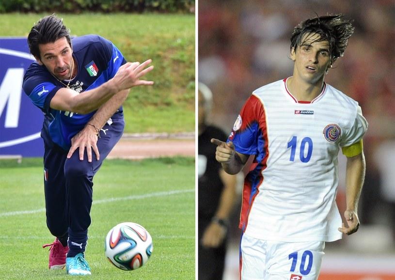 Gianluigi Buffon i reprezentant Kostaryki Bryan Ruiz /AFP