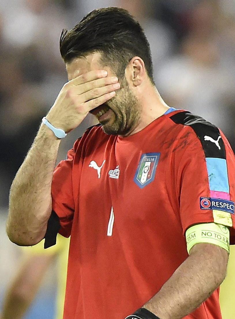 Gianluigi Buffon nie mógł powstrzymać łez /PAP/EPA