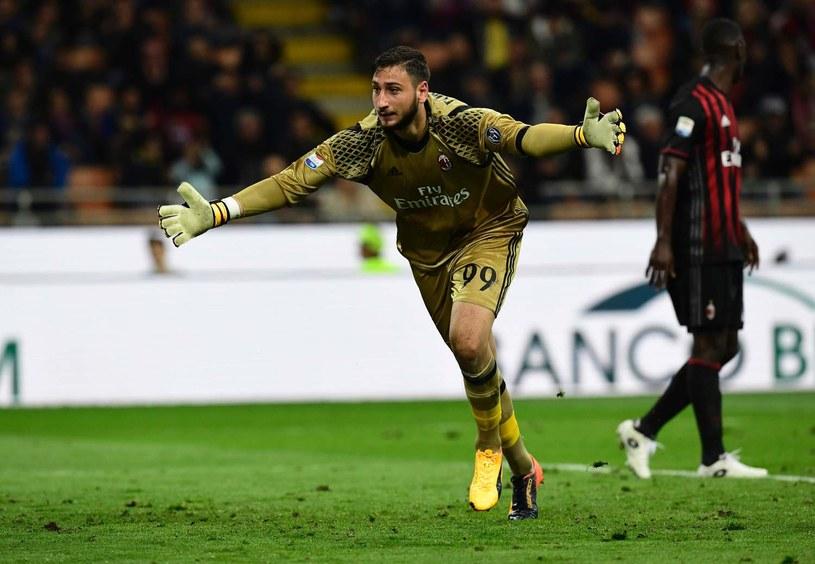 Gianluigi Donnarumma w barwach Milanu /AFP