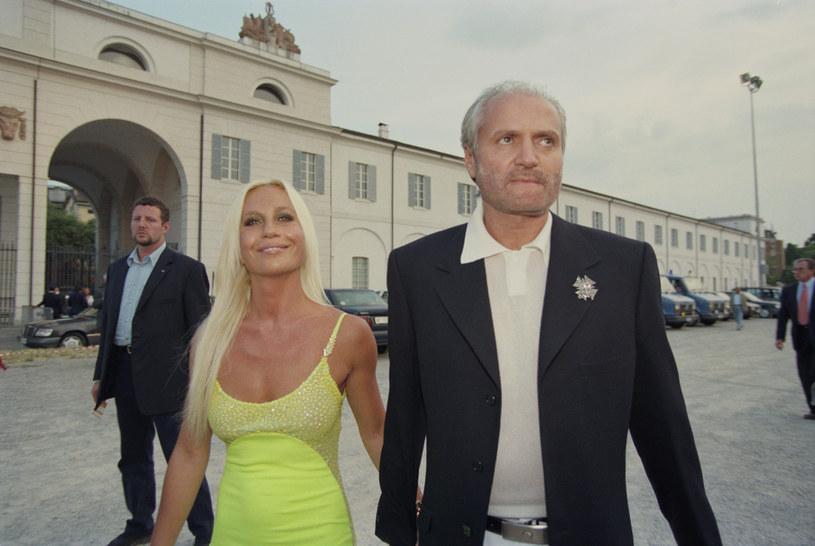 Gianni Versace z siostrą Donatellą /Brian Rasic/  Hulton Archive /Getty Images