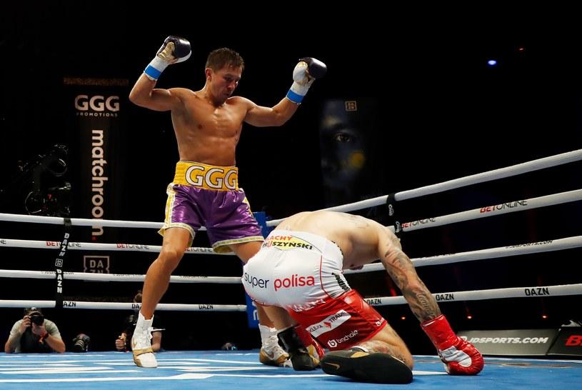 Giennadij Gołowkin pokazał bardzo ambitnemu Kamilowi Szeremecie, że boksuje w innej lidze /AFP