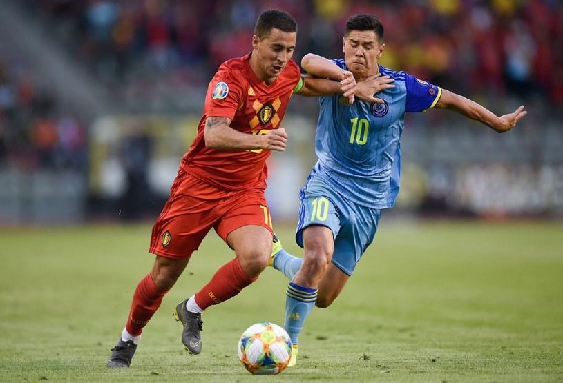 Gieorgij Żukow w meczu reprezentacji Kazachastanu z Belgią w eliminacjach Euro 2020 /AFP
