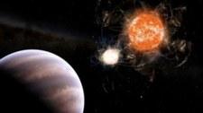 Gigantyczna planeta przechwyciła materię odmartwej gwiazdy