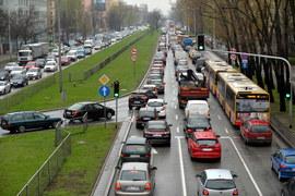 Gigantyczne korki w Warszawie