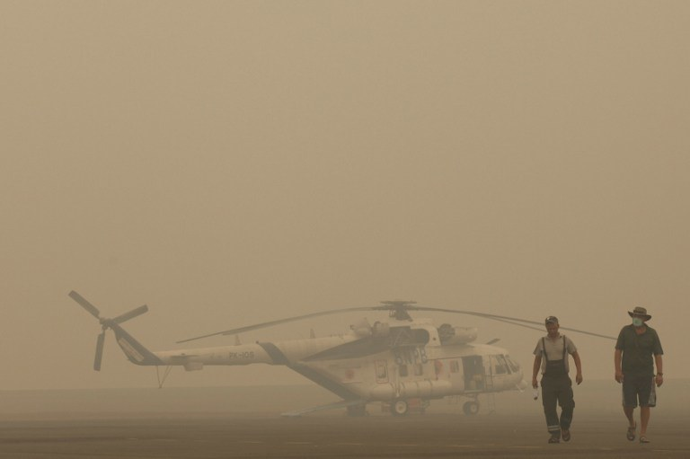 Gigantyczne pożary lasów trawią Indonezję /ABDUL QODIR /AFP