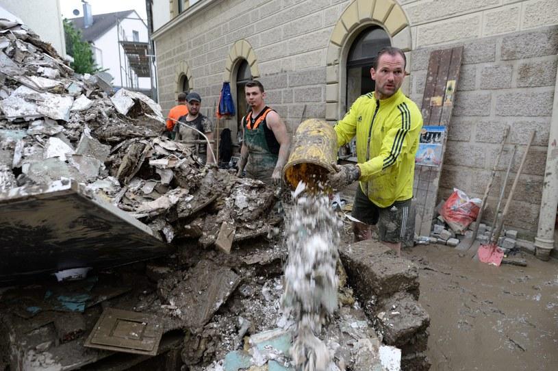 Gigantyczne straty po powodzi w Niemczech /Andreas Gebert /PAP/EPA