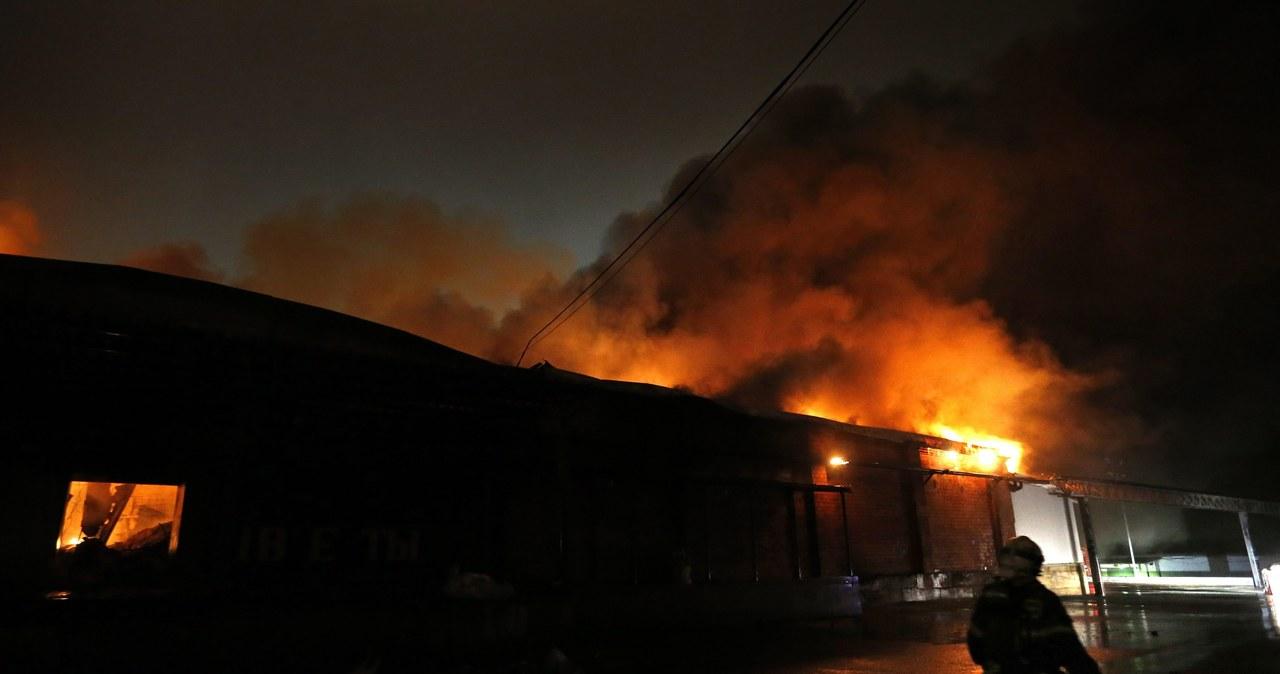 Gigantyczny pożar w Moskwie. Zginęło ośmiu strażaków