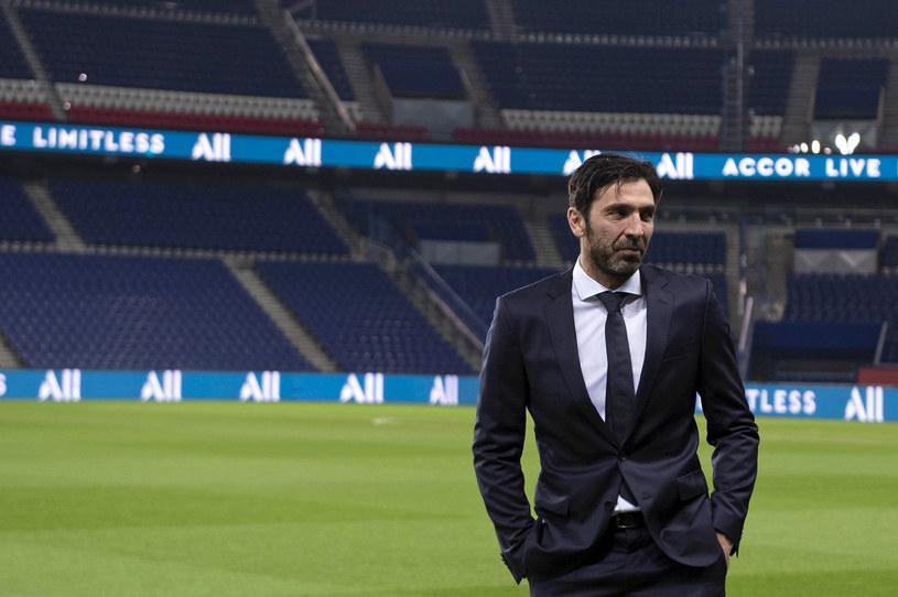 Gigi Buffon na stadionie w Paryżu /Getty Images