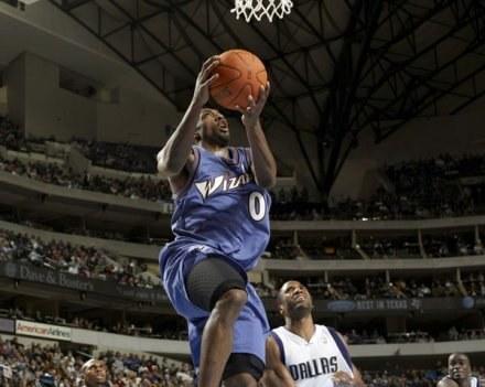 Gilbert Arenas poprowadził Wizards do wygranej z Mavericks /AFP