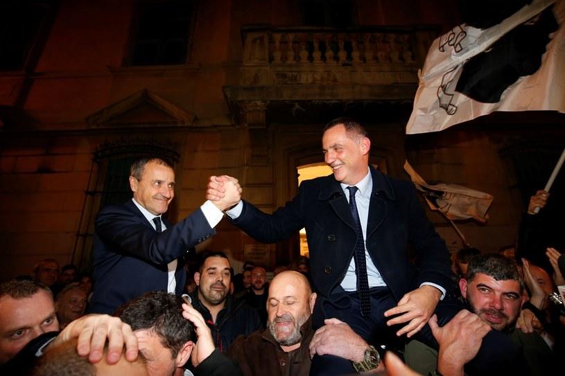 Gilles Simeoni i Jean-Guy Talamoni z koalicji Dla Korsyki /PASCAL POCHARD-CASABIANCA/AFP /East News