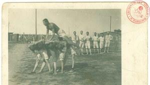 Gimnastyka Legionistów w obozie w Szczypiornie
