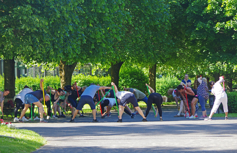 Gimnastyka na świeżym powietrzu; zdj. ilustracyjne /Marek Bazak /East News