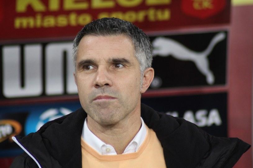 Gino Lettieri, trener Korony Kielce /Adrian Kumor /East News