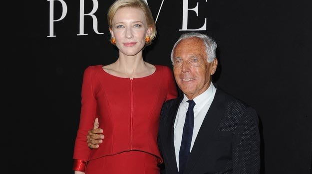 Giorgio Armani ze swą nową muzą - fot. Pascal Le Segretain /Getty Images/Flash Press Media