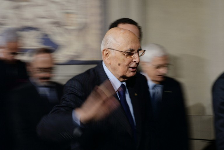 Giorgio Napolitano /AFP