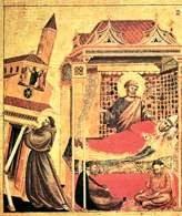Giotto, Widzenie Innocentego III, sen o św. Franciszku podtrzymującym kościół Saint-Jean-de-Lat /Encyklopedia Internautica