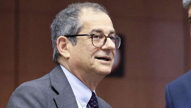 Giovanni Tria /OLIVIER HOSLET /PAP/EPA