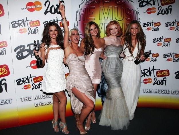 Girls Aloud jeszcze z Nadine Coyle  (w środku) fot. Tim Whitby /Getty Images/Flash Press Media