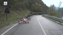 Giro d'Italia. Groźna kraksa na trasie 15. etapu. Wideo