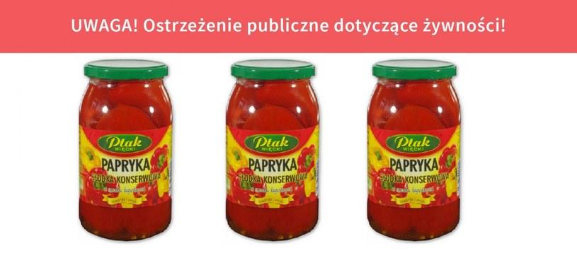 GIS ostrzega: Substancja alergenna w papryce konserwowej /gis.gov.pl /