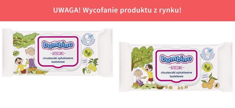 GIS wycofuje dwie partie chusteczek toaletowych Bambino Dzieciaki /gis.gov.pl /