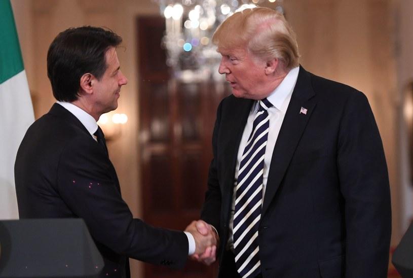 Giuseppe Conte i Donald Trump /AFP