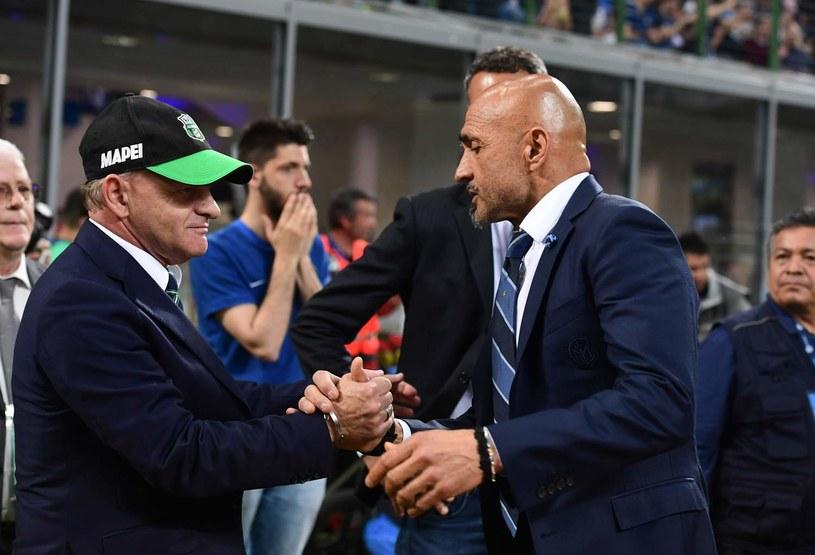 Giuseppe Iachini (z lewej) /AFP