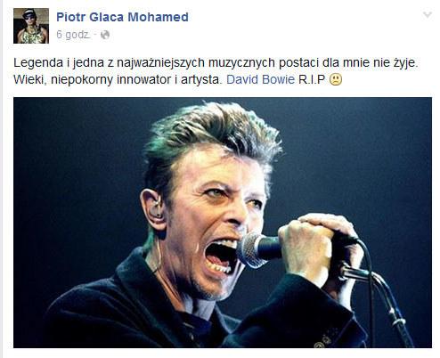 Glaca o śmierci Davida Bowiego /