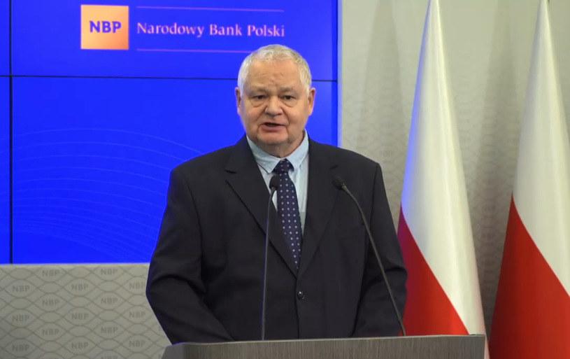 Glapiński o inflacji w Polsce /Informacja prasowa
