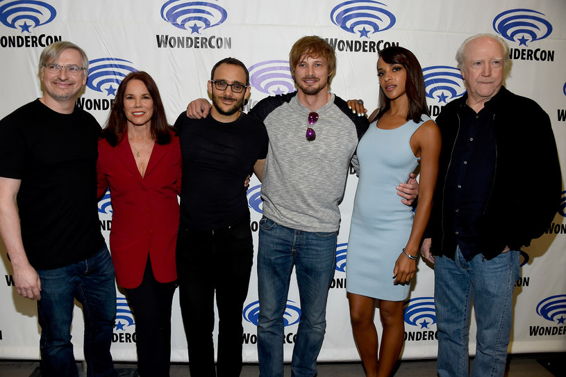 Glen Mazzara, actors Barbara Hershey, Omid Abtahi, Bradley James, Megalyn Echikunwoke, Scott Wilson /Frazer Harrison /Getty Images