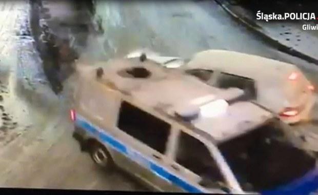 Gliwice: Pijany 25-latek wjechał w radiowóz