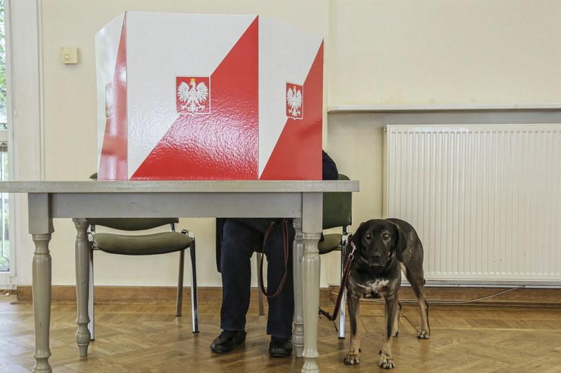 Głosowanie w komisji wyborczej numer 212 w warszawskim XIV Liceum im. Stanisława Stasica /Wojciech Olkuśnik /PAP