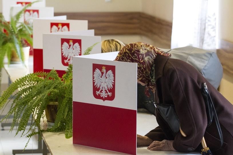 Głosowanie w lokalu wyborczym w Miedzianej Górze /Michał Walczak /PAP